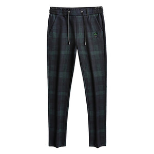 Pollogie™ Plaid Patterned Straight Trousers