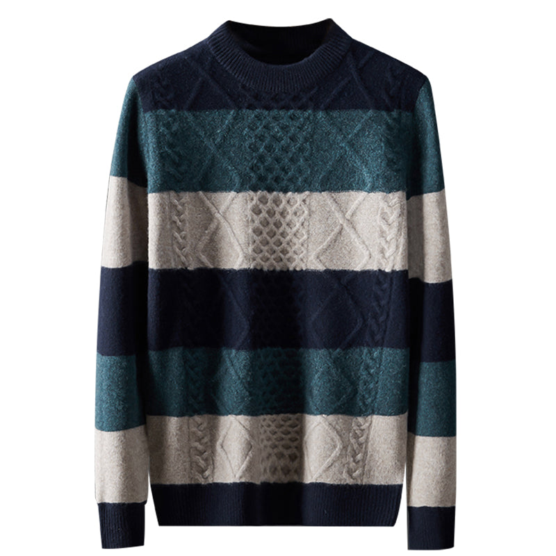 Pollogie™ Striped Cashmere Sweater