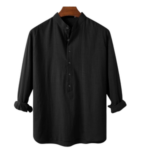 Pollogie™ Casual Buttoned Linen Blend Shirt