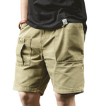 Pollogie™ Solid Color Big Pocket Shorts
