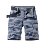 Pollogie™ Double Pocket Striped Shorts