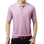 Pollogie™ Solid Color Button Polo Shirt