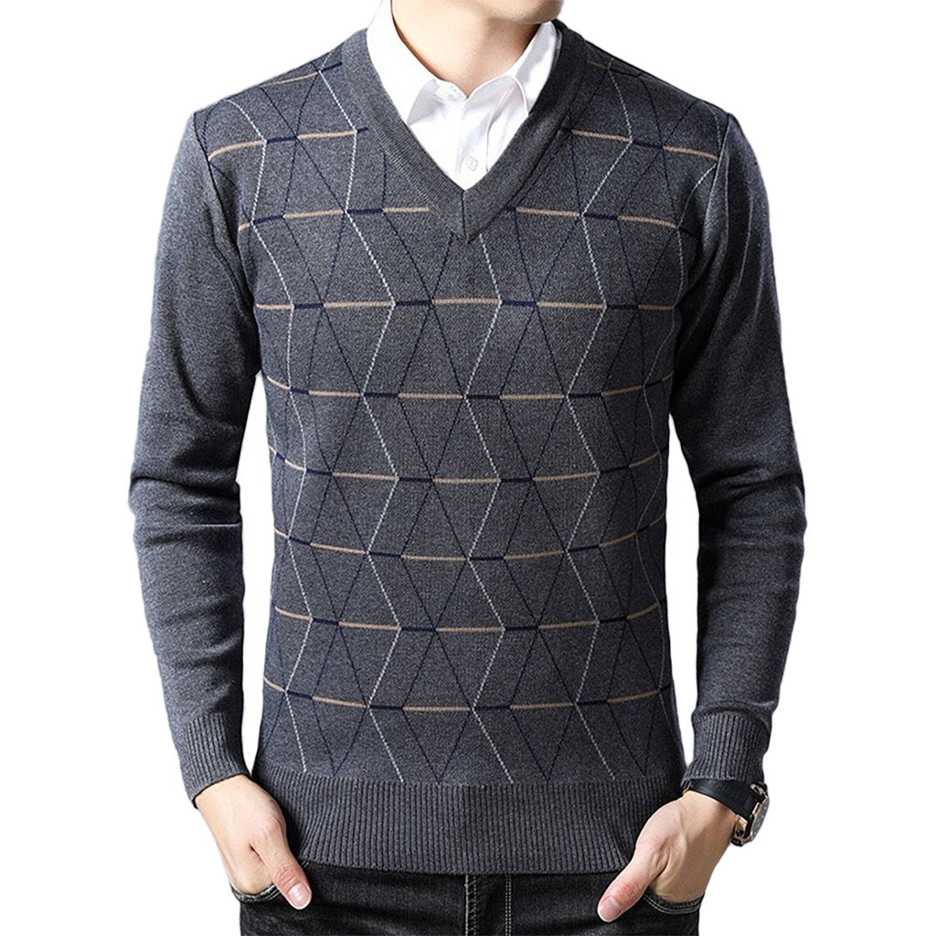 Pollogie™ Men's V-neck Sweater