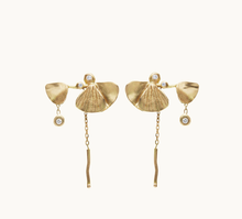 Load image into Gallery viewer, Gingko Chain Earrings