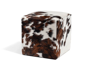 Natural Tricolor Ottoman #132, Medium