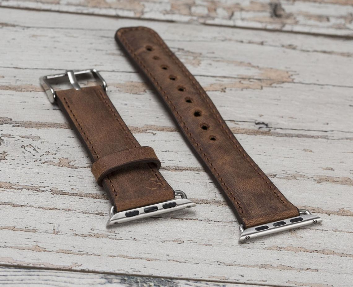 Apple Watch Leather Band Classic Dark Brown