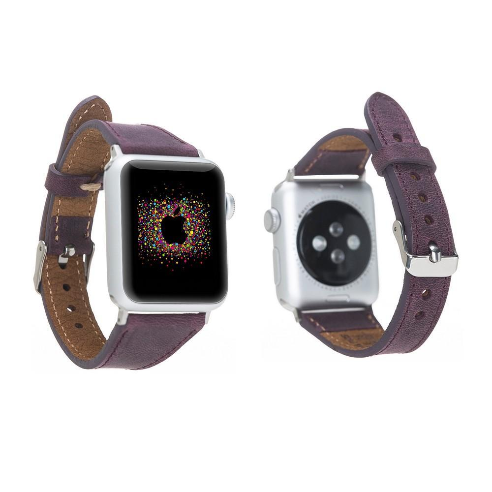 Apple Watch Leather Band Slim Fit Purple