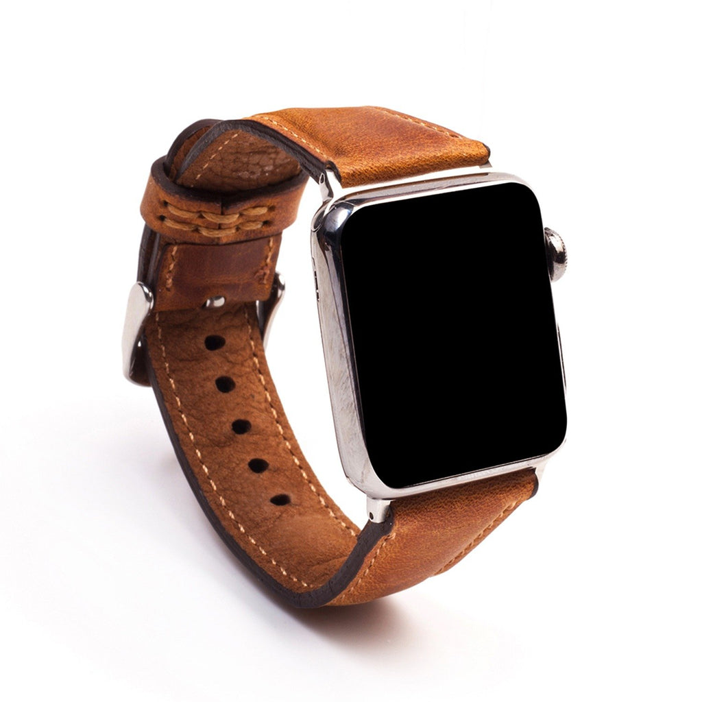 Apple Watch Leather Band Classic Light Brown