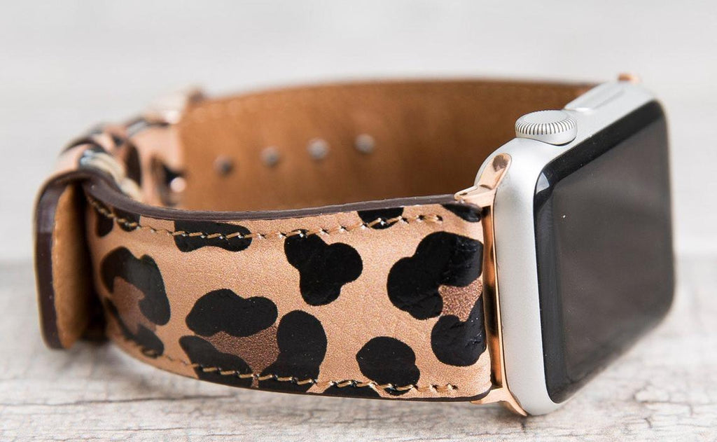 Apple Watch Leather Band Classic Leopard