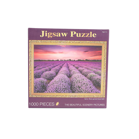 Toys Jigsaw Puzzles 1000 Piece Lavender Adult Kids DIY Puzzle Child Toys Home Decor - VIP Toys and Hobbies