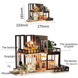 Miniature Super Mini Size Doll House Model Building Kits Wooden Furniture Toys DIY Dollhouse Girl Bedroom September Forest - VIP Toys and Hobbies