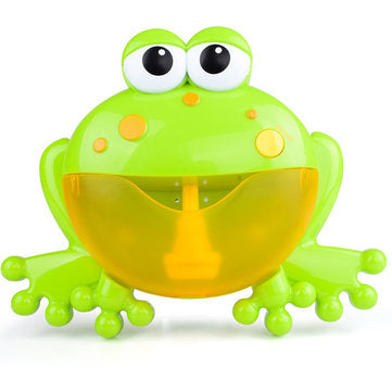Big Frog Automatic Bubble Blower Music Bubble Maker Baby Bath Toy Bathtub Soap Bubble Machine - VIP Toys and Hobbies