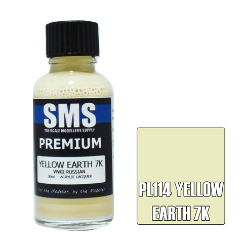 PL114 Premium YELLOW EARTH 7K 30ml - VIP Toys and Hobbies