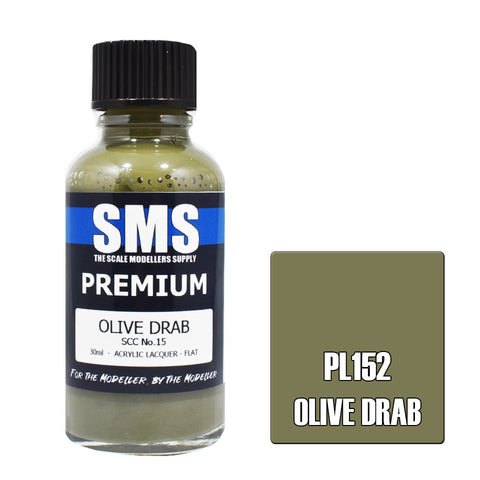 PL152 Premium OLIVE DRAB SCC No.15 30ml - VIP Toys and Hobbies