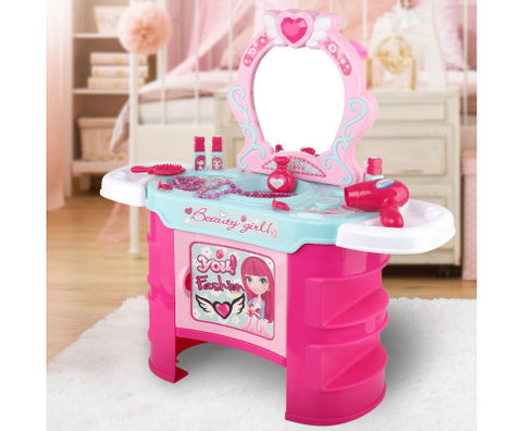 Keezi Kids Makeup Desk Play Set - Pink - VIP Toys and Hobbies