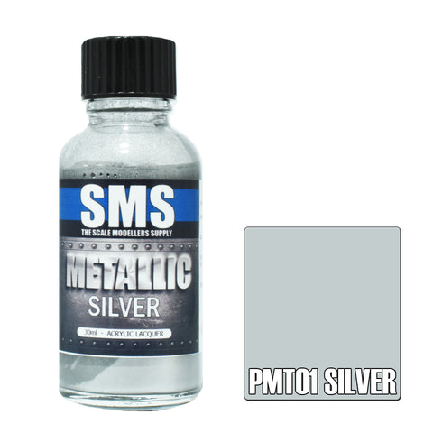 PMT01 Metallic SILVER 30ml - VIP Toys and Hobbies
