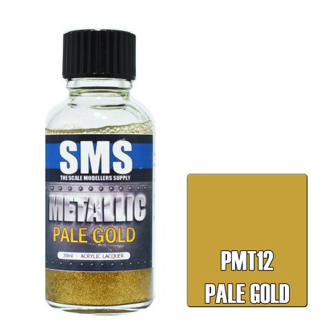 PMT12 Metallic PALE GOLD 30ml - VIP Toys and Hobbies