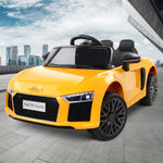 Rigo Kids Ride On Audi R8 - Yellow - VIP Toys and Hobbies