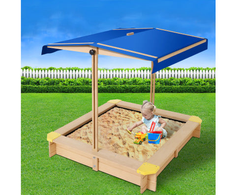 Keezi Wooden Outdoor Sand Box Set Sand Pit- Natural Wood - VIP Toys and Hobbies