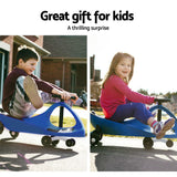 Keezi Kids Ride On Swing Car - Blue - VIP Toys and Hobbies