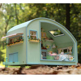 Dollhouse Motor Home Miniature DIY House Kit Room With Furniture Valentine's Gift - VIP Toys and Hobbies