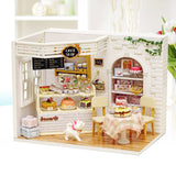 Dollhouse Miniature DIY House Kit Handmade Assembly Model Creative Room With Furniture (Cake Diary) - VIP Toys and Hobbies