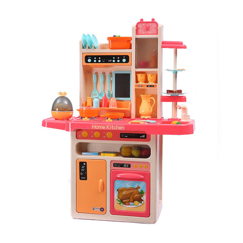 Toys 65 Pcs Kids Kitchen Play Set Pretend Cooking Toy Pink - VIP Toys and Hobbies