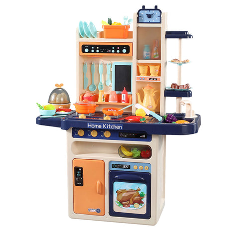 Toys 65 Pcs Kids Kitchen Play Set Pretend Cooking Toy Blue - VIP Toys and Hobbies
