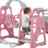 Toys BoPeep Kids Slide Swing Basketball Ring Activity Center Toddlers Play Set Pink - VIP Toys and Hobbies
