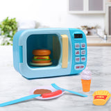Toys 32x Kids Kitchen Play Set Electric Microwave Oven Pretend Play Toys Blue - VIP Toys and Hobbies