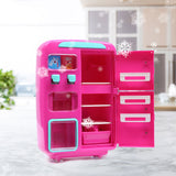 Toys Kids Play Set 2 IN 1 Refrigerator Vending Machine Kitchen Pretend Play Toys Pink - VIP Toys and Hobbies