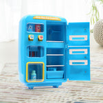 Toys Kids Play Set 2 IN 1 Refrigerator Vending Machine Kitchen Toys Blue - VIP Toys and Hobbies