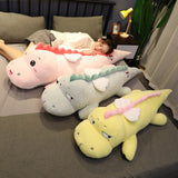 Plush Dinosaur Toy Super Soft Stuffed Dino with White Wings 100/130cm - VIP Toys and Hobbies