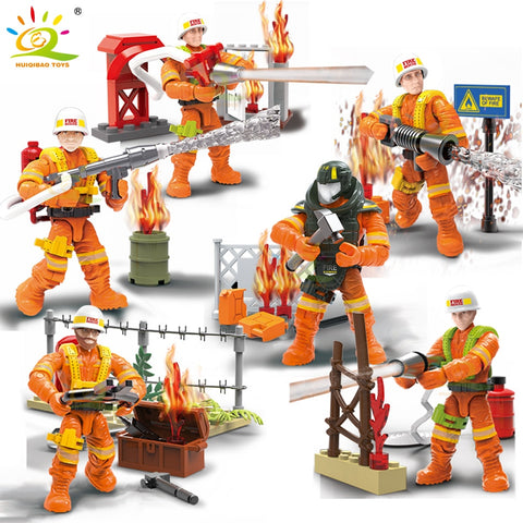 217Pcs City Rescue Firefighting Action Figures - VIP Toys and Hobbies
