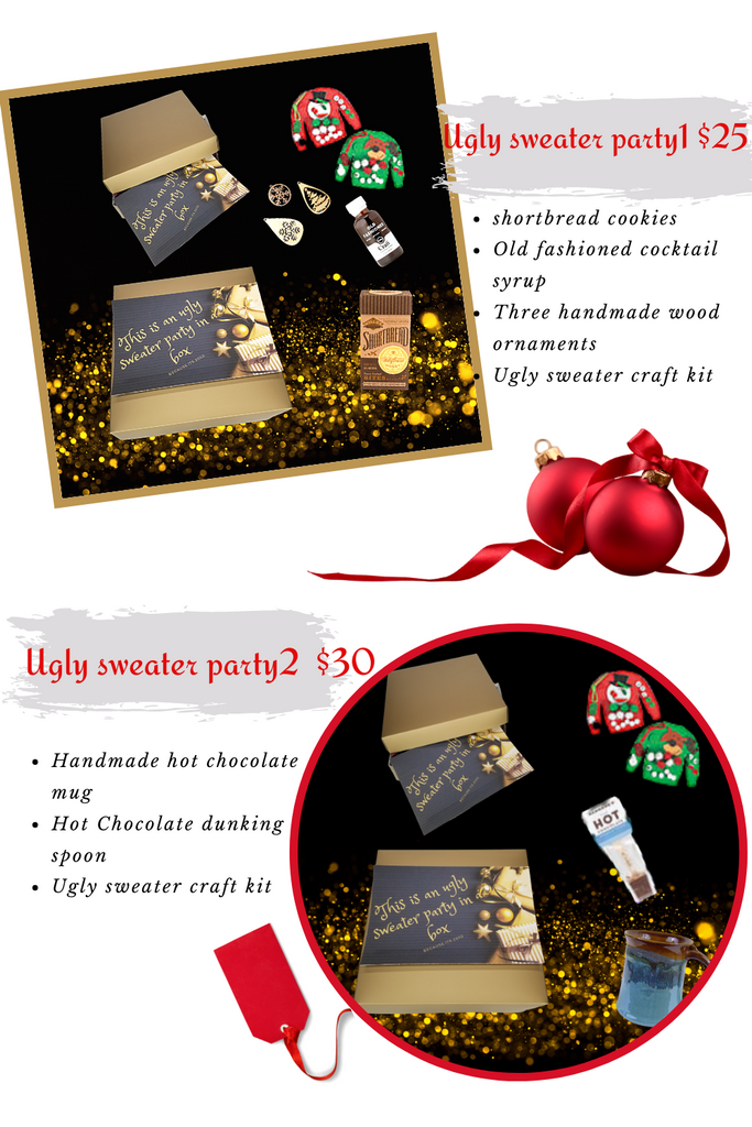 Ugly sweater virtual party gift box
