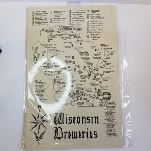 Wisconsin Breweries Map