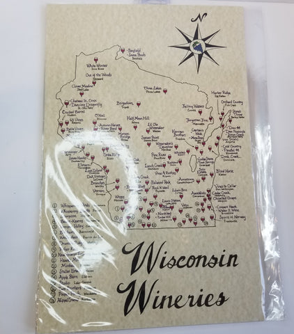 Wisconsin Wineries Map