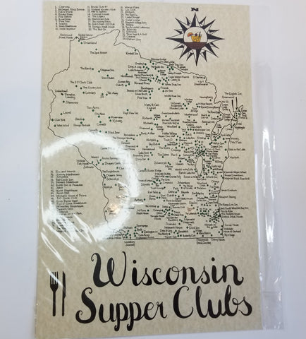Wisconsin Map | Wisconsin Supper Club Map