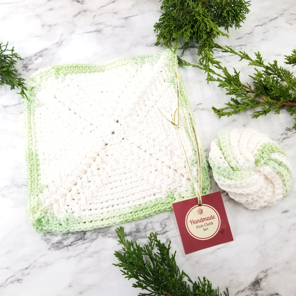 Reusable Crochet Dish Cloth and Scrubby