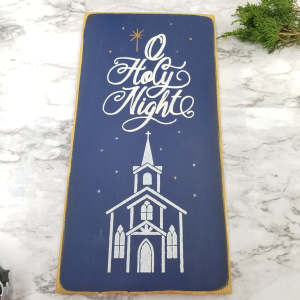 O Holy Night Wood Sign | Christmas Home Decor