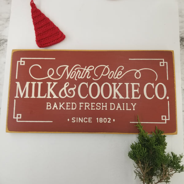 Farm House Holiday Wooden Sign