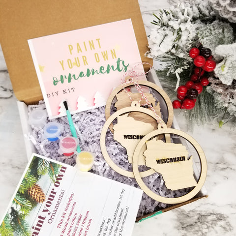 Wisconsin paint your ornament diy kit