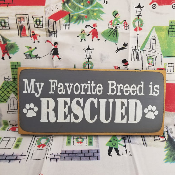 Pet Rescue Wood sign
