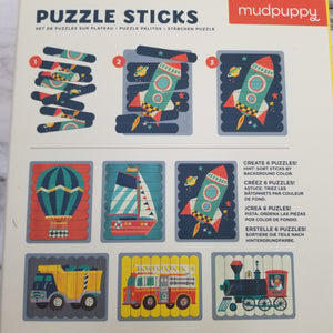 Transportation Puzzle Sticks