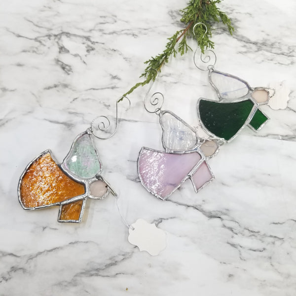 Angel Stain Glass Ornaments
