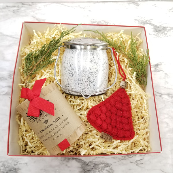 Christmas Candle and Hot Chocolate Gift Box