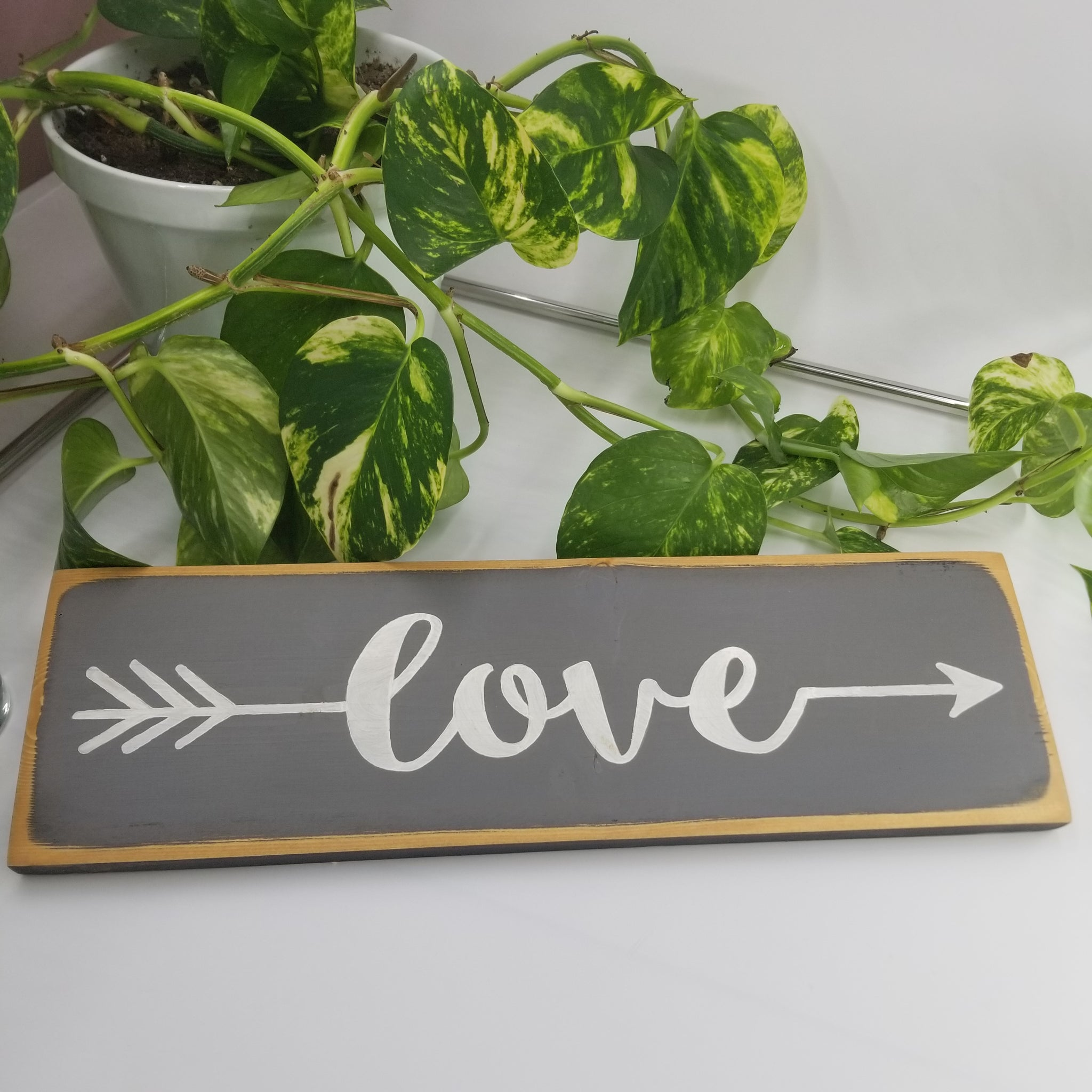 Wooden Sign - Love