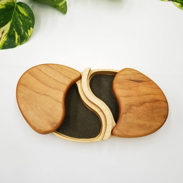 Wooden Jewelry Box Two Sides