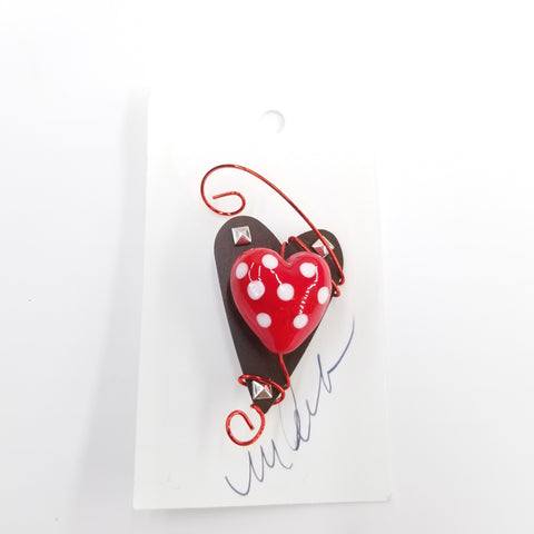 Handmade Heart Pin