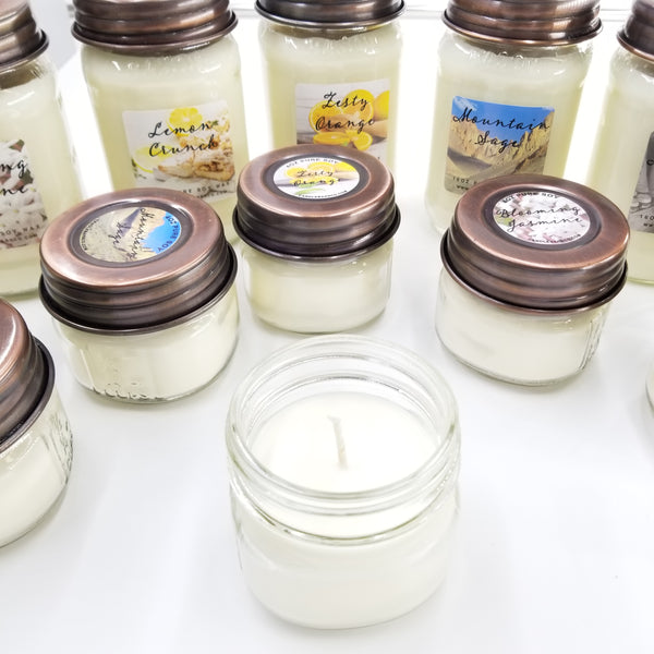 Mason Jar Soy Candle By Candle Barn - Small 4oz